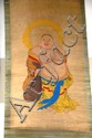 Oriental scroll painting of Buddha on paper, 50