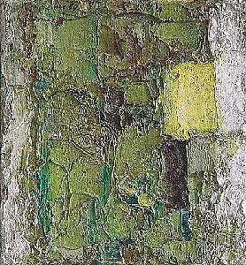 Wildemann, Heinrich (1904 - 1964): Untitled, 1959. Oil on masonite, mounted on wood. Initials and dated. 20 x 18.5 cm, R.