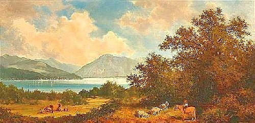 Mitterfellner, Andreas. Bavarian landscape. Oil/panel, signed.