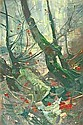 Hagemeister, Karl. Woods inside. Oil/canvas, signed. 115 x 77 cm, Karl Hagemeister, Click for value