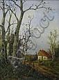 BEZ. H. FLOCKENHAUS HERBSTLICHE LANDSCHAFT 34 X 26, H. Flockenhaus, Click for value