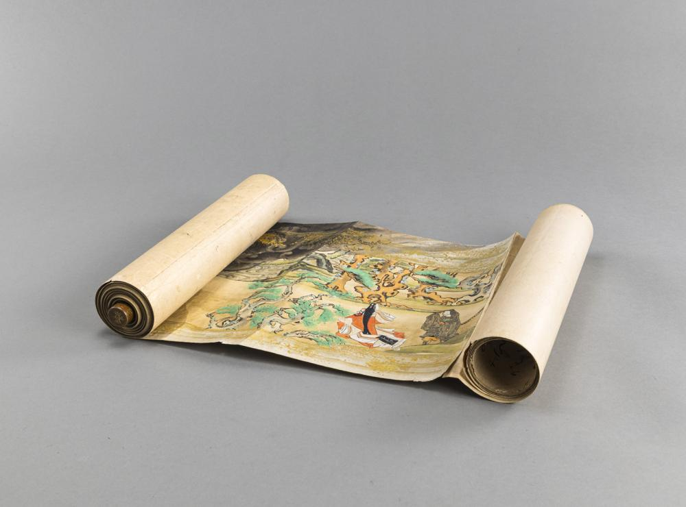 A VERY LONG HORIZONTAL SCROLL IN TOSA SCHOOL MANNER