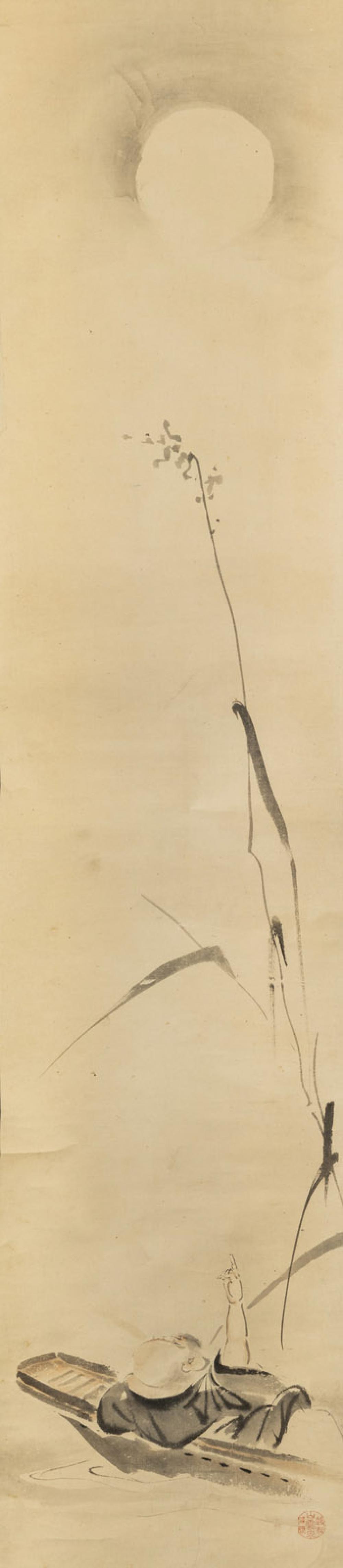 TWO HANGING SCROLLS WITH TEKKAI SENNIN AND HOTEI