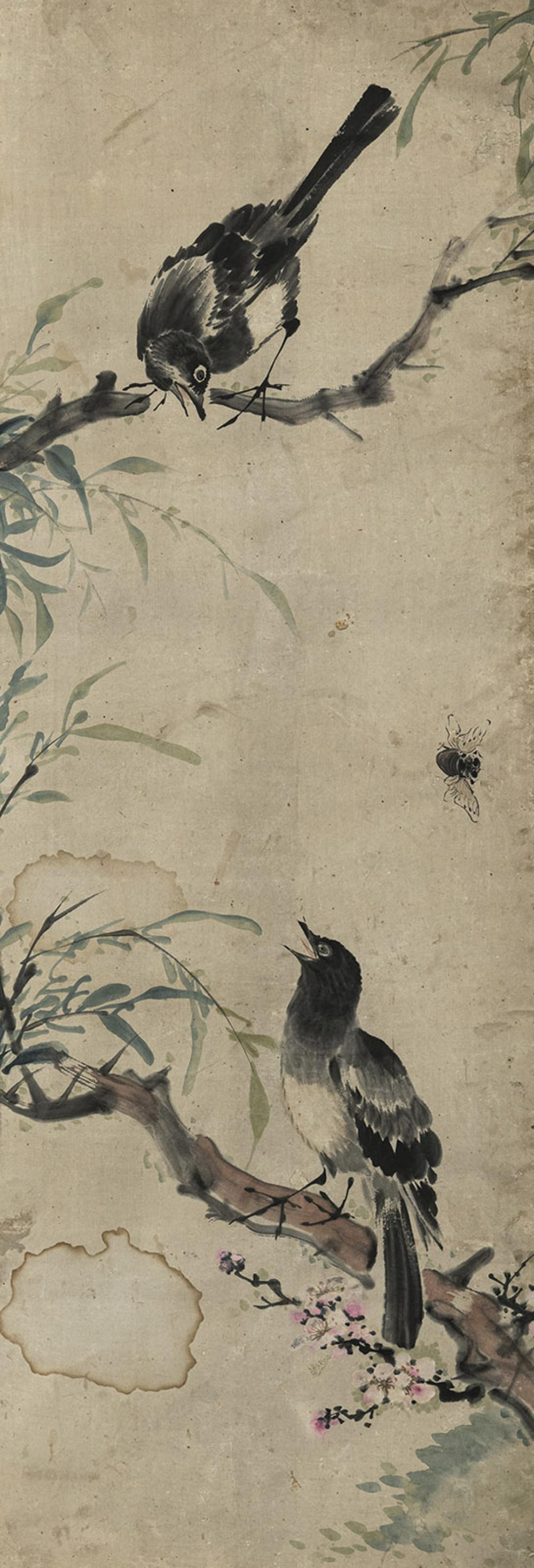 TEN PAINTINGS OF FLOWERS AND ANIMALS ATTRIBUTED TO JANG SEUNG-EOP (1843-1897)