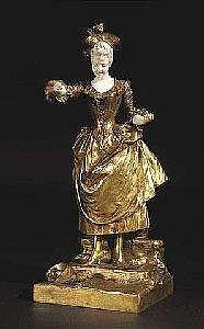 STRAETEN, GEORGES VAN DER. Gent 1856 - 1928 (last mention). Bronze, ivory. Signed. Faundry SOCIETE DES BRONZES DE PARIS. H. 32 cm