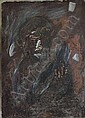 Longobardi, Nino: Head, 1981. Tempera on cardboard. Signed and dated. 77 x 56 cm, R., Nino Longobardi, Click for value