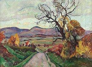Strich-Chapel, Walter: Autumn landscape. Oil on canvas. Signed. 60 x 80 cm, R.