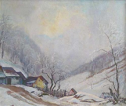 Strich-Chapel, Walter: Winter landscape, 1938. Oil