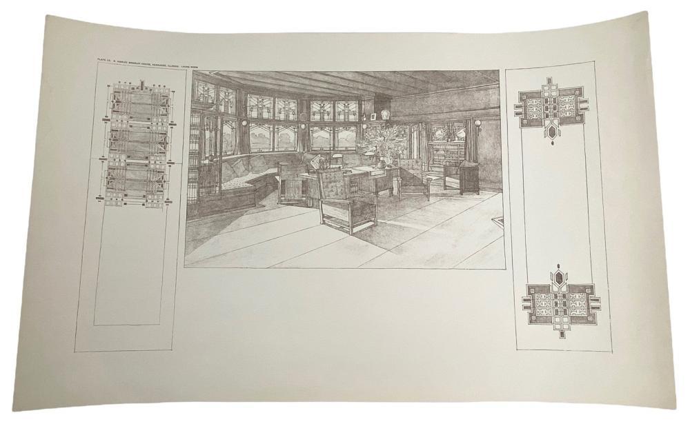 Frank Lloyd Wright Quadruple Block Plan Lithograph