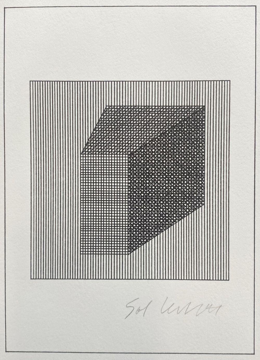 Sol LeWitt Geometric Silkscreen Lithographs