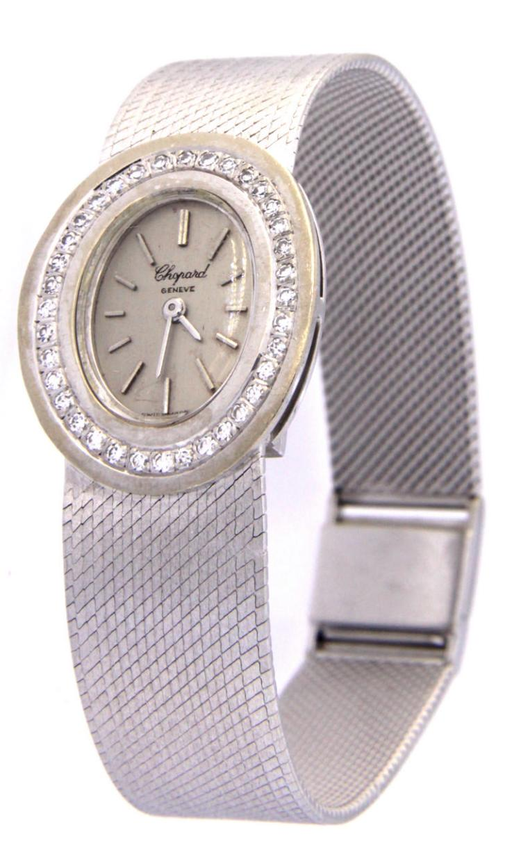 An 18k white gold lady wristwatch CHOPARD Geneve L.U.C. ref. 96117