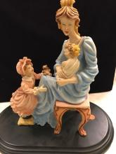 Capodimonte Porcelain Statue of Woman with Children