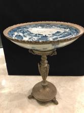 Porcelain and Bronze Satsuma Style Centerpiece