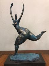 Magnificent Patinated Bronze Statue of Dancing Lady by Milo