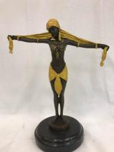 Bronze Statue of Egyptian Woman by D.H. Chiparus
