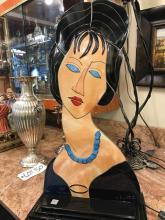 Italian Abstract Mosaic Statue of Woman, Lmtd. Ed.