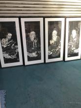 Set of 4 Temple Rubbings of Elder Deities