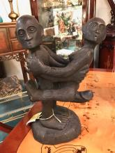 Erotic Statue Carved From Bontoc Pine Root