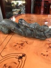 Vintage Bronze Finished Adorning Phallis Statue