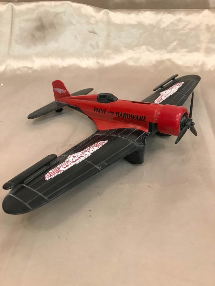 Ace Hardware Cast Iron Airplane Collector's Bank