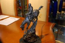 Miniature Bronze Mountain Man on Horse