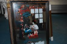 Unique Vintage Coca-Cola Framed Mirror with Calendar