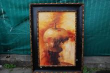 Magnificent Abstract Oil on Canvas Painting of Apple