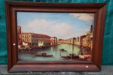 Magnificent Oil on Canvas Painting of Venice Scenery