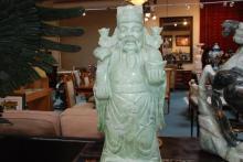Massive Light Green Jade Statue of Wise Man
