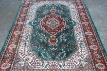 Beautiful Handmade Silk Geometric Design Area Rug