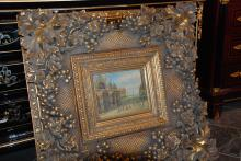 Beautiful Vintage Oil On Canvas in Exquisite Gilded Frame