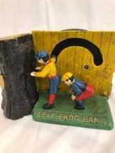 Antique Cast Iron Leap-Frog Bank