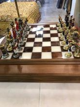 Beautiful Napoleon Battle of Waterloo Chess Set