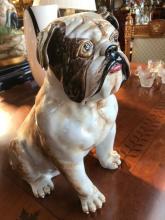 Porcelain Bulldog Statue