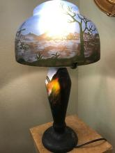 Art Deco Mountain Scenery Lamp