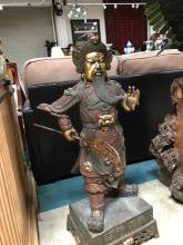 Rare 19th Century Iron Chinese General Statue