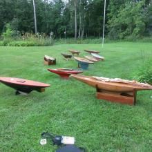 Model Pond Boat Collection~10 Vintage Wooden Pond Yachts