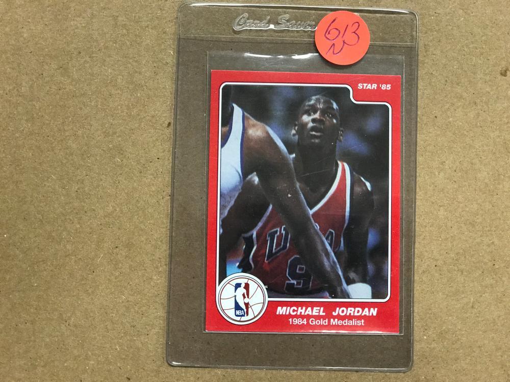 1984 85 Star 1984 Gold Medalist 195 Michael Jordan Rook