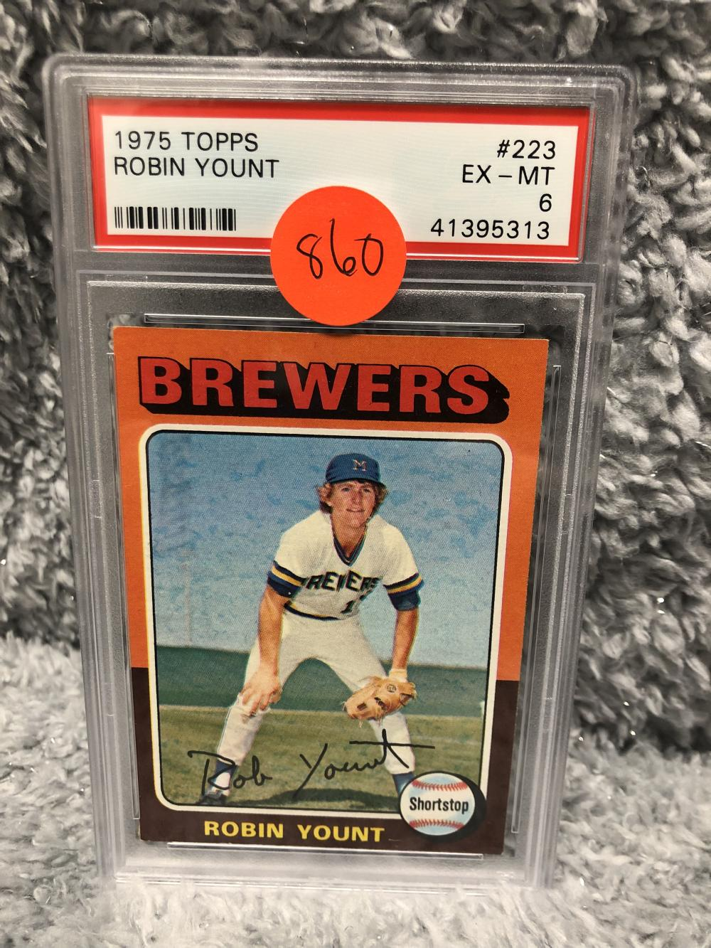 1975 Topps Robin Yount Rookie Card Psa 6 Exmt
