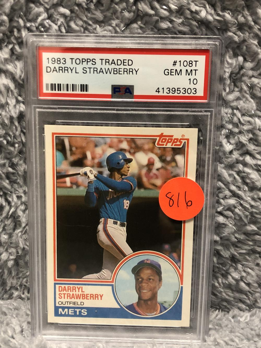 1983 Topps Traded Darryl Strawberry Rookie Card Psa 10 G