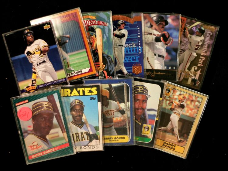Barry Bonds Lot Of 11 Cards Wrookie Baseball Cards