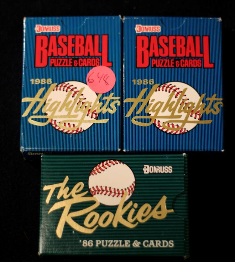 1986 Donruss Baseball Rookie Set 2 1986 Donruss Highligh