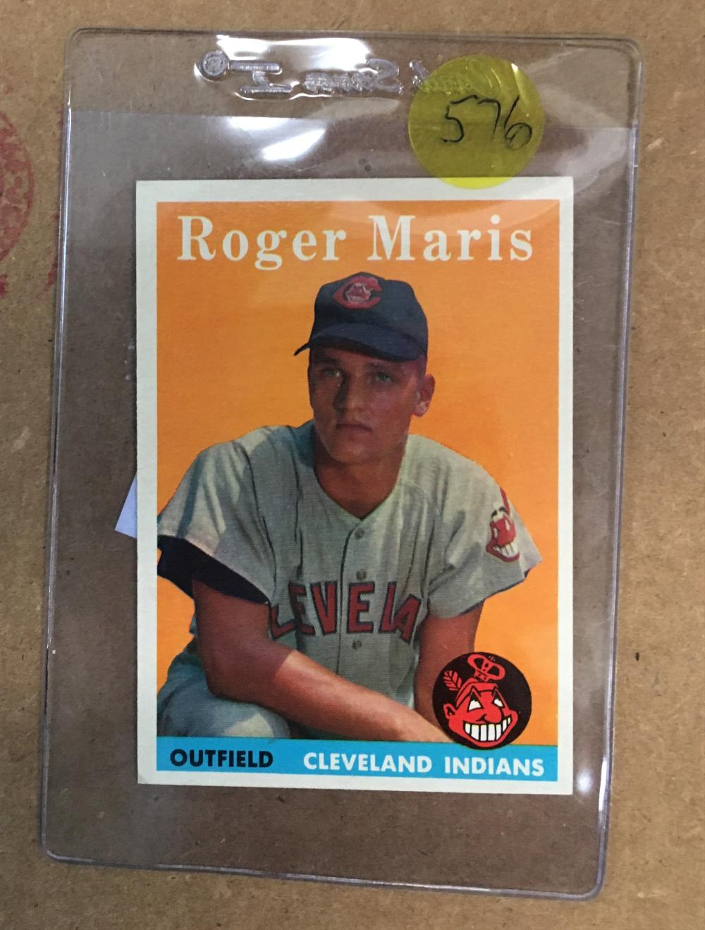1958 Topps Roger Maris Rookie Higher Grade Looks A Psa 8