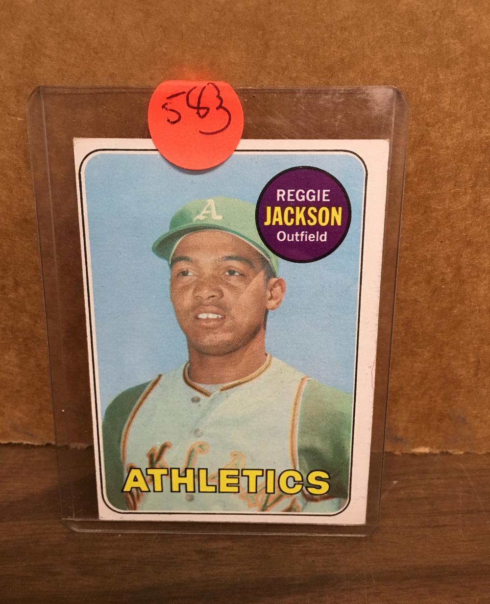 1969 Topps Reggie Jackson Rookie Card Nice