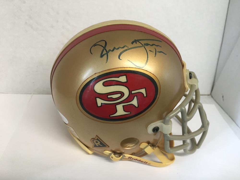 sale retailer 6bca8 3004b Ronnie Lott autographed mini helmet with COA