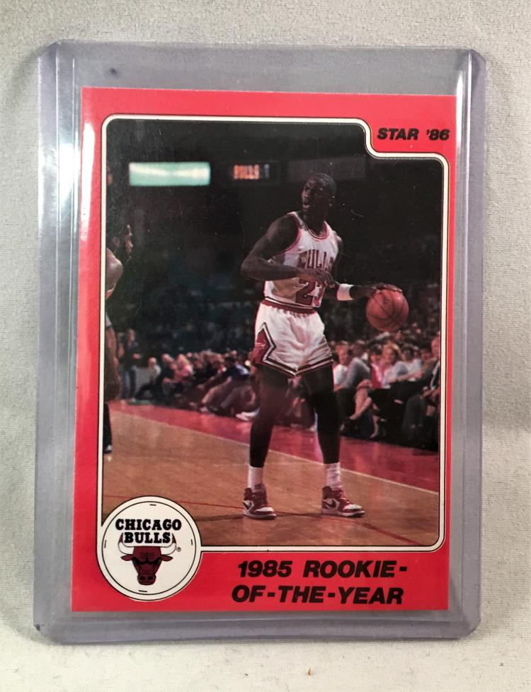 1986 Star Co Michael Jordan 1985 Rookie Of The Year Card