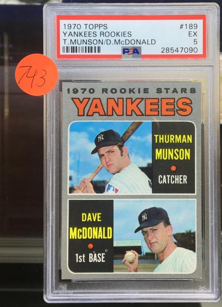 89e0867f317 1970 Topps Thurman Munson Rookie Card - PSA 5 - Nice Key Rookie card