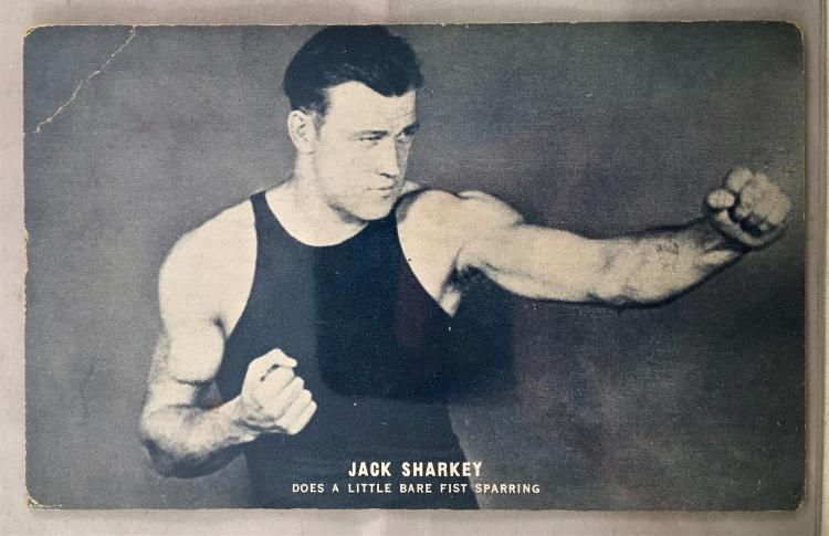 Jack Sharkey 1920s Boxing Post Card Exhibit Card - Rare