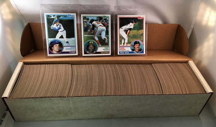 1983 Topps Baseball Complete Set Wtony Gwynn Wade Boggs