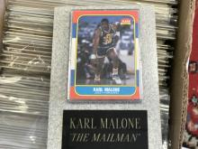 1986-87 Fleer Karl Malone Rookie card w/Granite holder!  ROOKIE CARD!